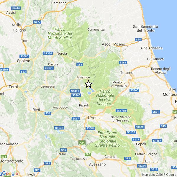 Scossa di terremoto a 10 km da Amatrice